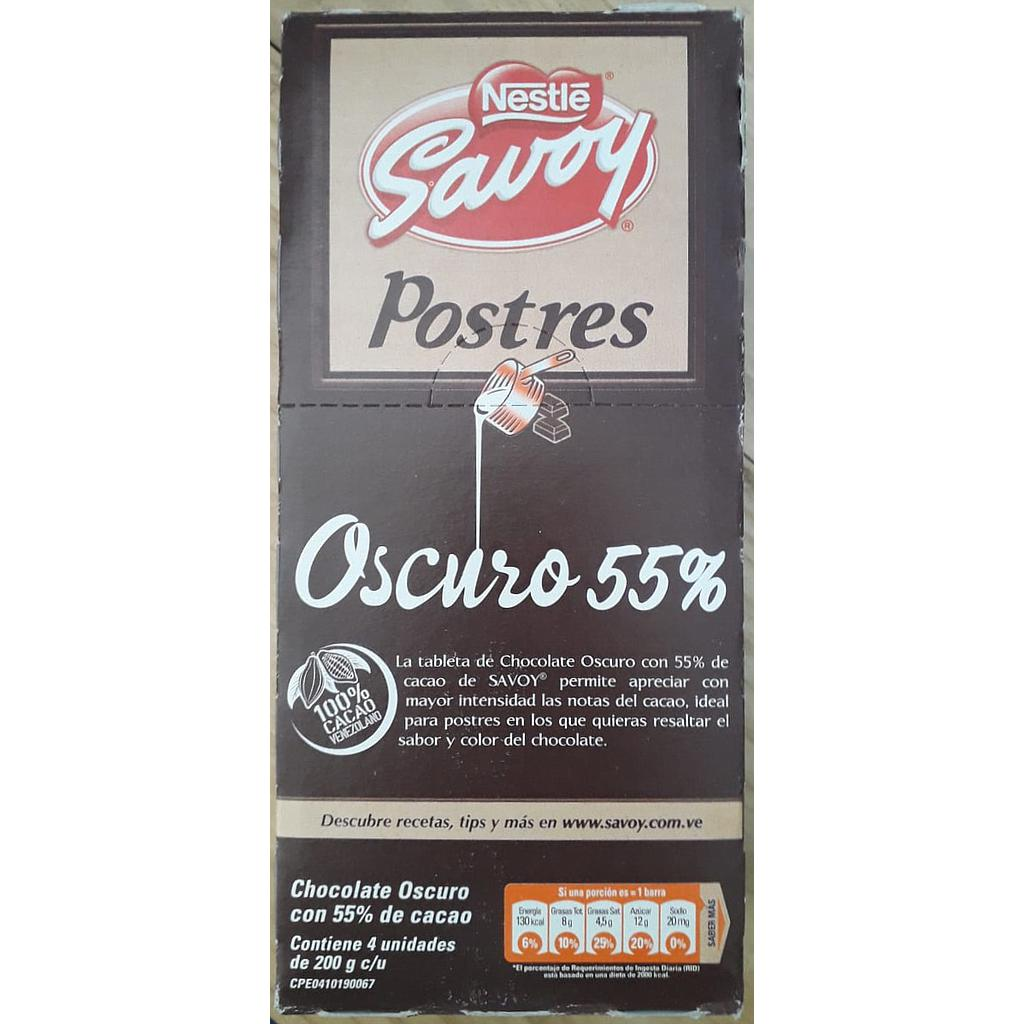 Chocolate Postre Savoy 200gr Oscuro 55%